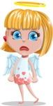 Angel Kid Vector Cartoon Character AKA Stella the Shining Angel - Sad