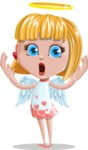 Angel Kid Vector Cartoon Character AKA Stella the Shining Angel - Shocked