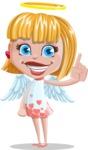 Angel Kid Vector Cartoon Character AKA Stella the Shining Angel - Attention