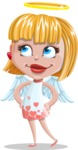 Angel Kid Vector Cartoon Character AKA Stella the Shining Angel - Roll Eyes
