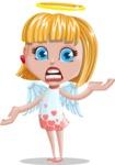 Angel Kid Vector Cartoon Character AKA Stella the Shining Angel - Confused