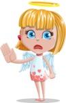 Angel Kid Vector Cartoon Character AKA Stella the Shining Angel - GoodBye