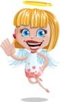 Angel Kid Vector Cartoon Character AKA Stella the Shining Angel - Hello