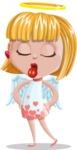 Angel Kid Vector Cartoon Character AKA Stella the Shining Angel - Making Face