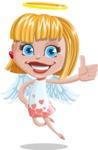 Angel Kid Vector Cartoon Character AKA Stella the Shining Angel - Thumbs Up