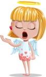 Angel Kid Vector Cartoon Character AKA Stella the Shining Angel - Bored 2