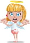 Angel Kid Vector Cartoon Character AKA Stella the Shining Angel - Scary
