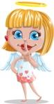 Angel Kid Vector Cartoon Character AKA Stella the Shining Angel - Quiet