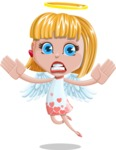 Angel Kid Vector Cartoon Character AKA Stella the Shining Angel - Scared 1