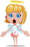 Angel Kid Vector Cartoon Character AKA Stella the Shining Angel - Scared 2