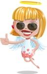 Angel Kid Vector Cartoon Character AKA Stella the Shining Angel - Sunglasses