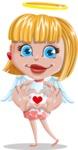 Angel Kid Vector Cartoon Character AKA Stella the Shining Angel - Show Love