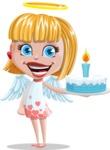 Angel Kid Vector Cartoon Character AKA Stella the Shining Angel - With Cake