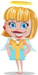 Angel Kid Vector Cartoon Character AKA Stella the Shining Angel - Gift