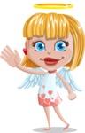 Angel Kid Vector Cartoon Character AKA Stella the Shining Angel - Wave