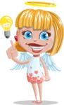 Angel Kid Vector Cartoon Character AKA Stella the Shining Angel - Idea