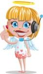 Angel Kid Vector Cartoon Character AKA Stella the Shining Angel - Support 2