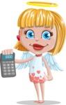 Angel Kid Vector Cartoon Character AKA Stella the Shining Angel - Calculator