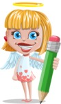 Angel Kid Vector Cartoon Character AKA Stella the Shining Angel - Pencil