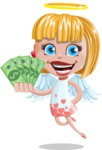 Angel Kid Vector Cartoon Character AKA Stella the Shining Angel - Money