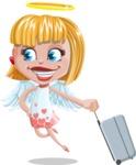 Angel Kid Vector Cartoon Character AKA Stella the Shining Angel - Suitcase