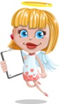 Angel Kid Vector Cartoon Character AKA Stella the Shining Angel - Notepad 1