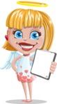 Angel Kid Vector Cartoon Character AKA Stella the Shining Angel - Notepad 2