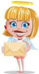 Angel Kid Vector Cartoon Character AKA Stella the Shining Angel - Mail