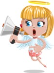 Angel Kid Vector Cartoon Character AKA Stella the Shining Angel - Loudspeaker