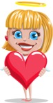 Angel Kid Vector Cartoon Character AKA Stella the Shining Angel - Love