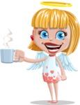 Angel Kid Vector Cartoon Character AKA Stella the Shining Angel - Coffee