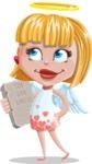 Angel Kid Vector Cartoon Character AKA Stella the Shining Angel - Ten God Advert