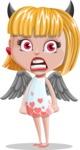 Angel Kid Vector Cartoon Character AKA Stella the Shining Angel - Devil