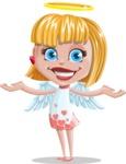 Angel Kid Vector Cartoon Character AKA Stella the Shining Angel - Showcase 2