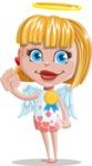 Angel Kid Vector Cartoon Character AKA Stella the Shining Angel - Ribbon