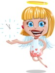 Angel Kid Vector Cartoon Character AKA Stella the Shining Angel - Time