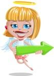 Angel Kid Vector Cartoon Character AKA Stella the Shining Angel - Arrow 1