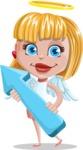 Angel Kid Vector Cartoon Character AKA Stella the Shining Angel - Arrow 2