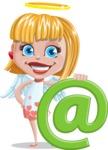 Angel Kid Vector Cartoon Character AKA Stella the Shining Angel - Web