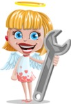 Angel Kid Vector Cartoon Character AKA Stella the Shining Angel - Repair