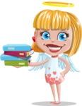 Angel Kid Vector Cartoon Character AKA Stella the Shining Angel - Books