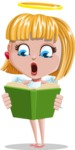 Angel Kid Vector Cartoon Character AKA Stella the Shining Angel - Book