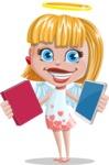 Angel Kid Vector Cartoon Character AKA Stella the Shining Angel - Book or Tablet