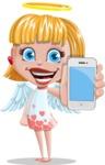 Angel Kid Vector Cartoon Character AKA Stella the Shining Angel - iPhone