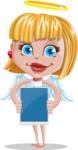 Angel Kid Vector Cartoon Character AKA Stella the Shining Angel - Tablet 1