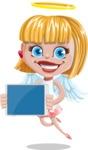 Angel Kid Vector Cartoon Character AKA Stella the Shining Angel - Tablet 2