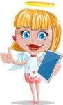 Angel Kid Vector Cartoon Character AKA Stella the Shining Angel - Tablet 3