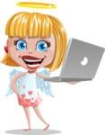 Angel Kid Vector Cartoon Character AKA Stella the Shining Angel - Laptop 1