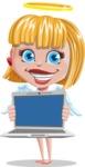 Angel Kid Vector Cartoon Character AKA Stella the Shining Angel - Laptop 2
