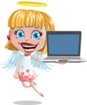 Angel Kid Vector Cartoon Character AKA Stella the Shining Angel - Laptop 3